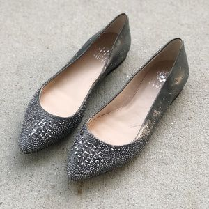 Vince Camuto Silver embellished Pointed toe flats